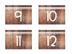 Student Number Labels [Wood]