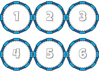Circle Labels- Numbered