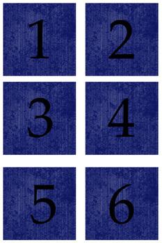 Student Number Magnets - Blue
