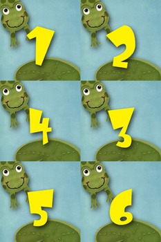 Student Number Magnets - Frog Theme