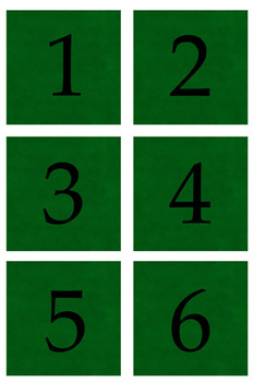 Student Number Magnets - Green
