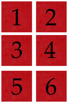 Student Number Magnets - Red