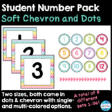 Student Number Pack in Soft Chevron & Dots