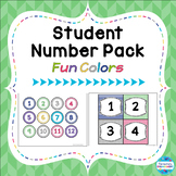 "Student Number Pack in ""Fun Colors"""