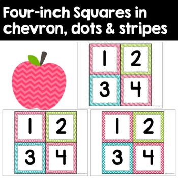 Student Number Pack in Pink, Lime Green, and Turquoise
