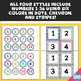 Student Number Labels in Fun Colors and Patterns