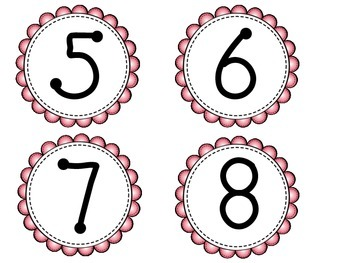 Student Number Tags