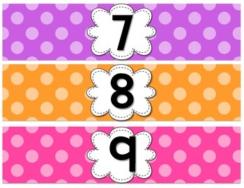 EDITABLE Student Numbered Supply Drawer Labels {Bright Polka Dots}