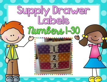 EDITABLE Student Numbered Supply Drawer Labels {Bright Pol