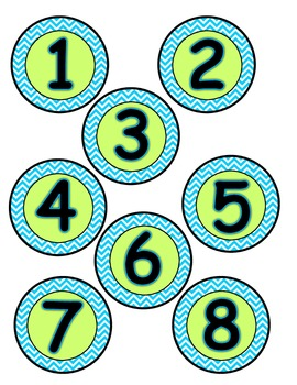 Student Numbers (Bright Blue, Lime, Grey)