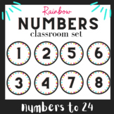 Student Numbers | Back to school Rainbow Decor | Class set
