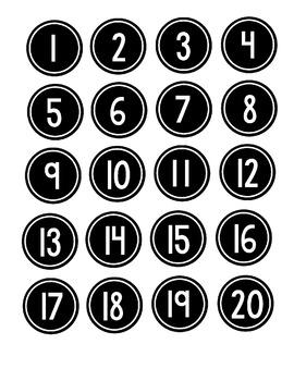 Classroom Numbers Black