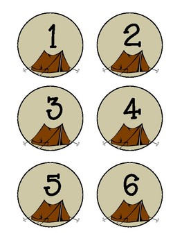 Student Numbers Camping Theme