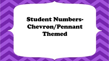 Student Numbers: Chevron Pennant Theme