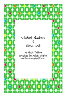 Student Numbers & Class List