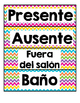Student Numbers & Labels in Spanish (Decoracions del salon)