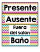 Student Numbers & Labels in Spanish (Decoracions del salon)