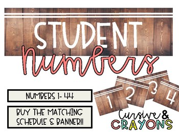 Student Numbers Rustic Wood Background