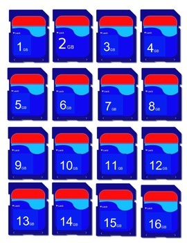 Student Number Labels - SD Card - Technology Theme