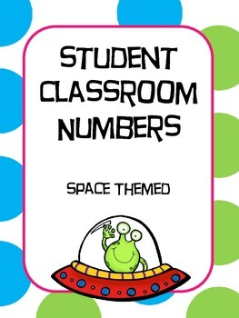 Student Numbers Space Themed