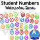 Student Numbers:  Watercolor Decor