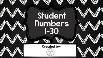 Student Numbers for Art Boxes, Mailboxes, Etc.