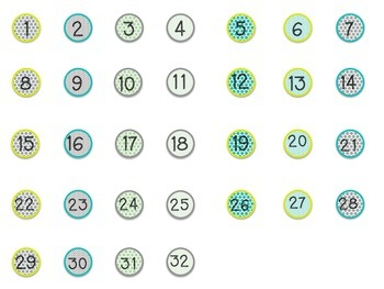 Student Numbers for Glass Stones-FREEBIE