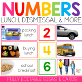 Student Numbers for Organization, Lunch Count, & Dismissal