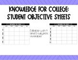 Student Objective Handout