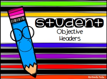 Student Objective Headers