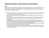 Student Observation in General Education Setting