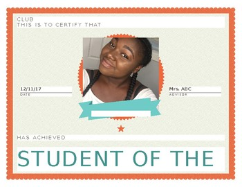 Student Of The Month- CTE and Clubs