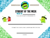 Student Of The Week - Class Dojo
