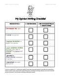 Student Opinion Writing Checklist