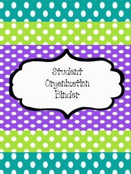 Student Organization Binder