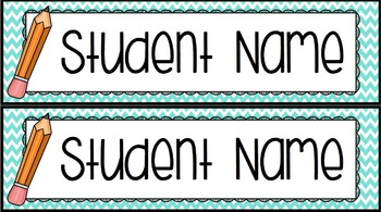 Student Organization: Name-tags, Nameplates, Folder, Notebook and Cubby Labels