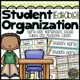 Editable Student Labels {Chevron Classroom Set}