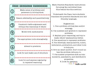 Student Organization Pack: Interactive Notebook and Math Portfolio Startup Kit