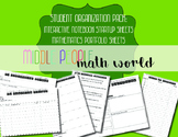 Student Organization Pack: Interactive Notebook and Math P