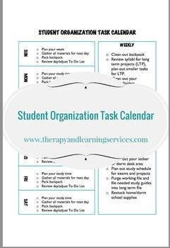 Student Organization Task Calendar
