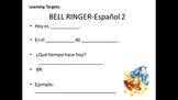 Student Owned Daily Bell Ringer Template-Spanish