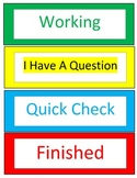 Student Pacing Cards