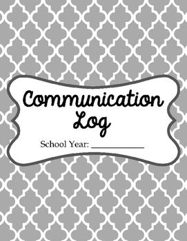 Communication Log/Folder/Binder Printables - Forms you can use!
