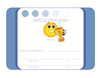 Student Participation Award