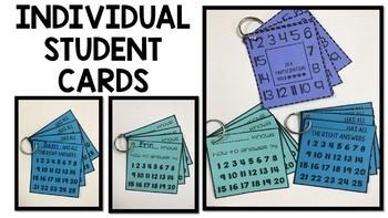 Student Participation Cards