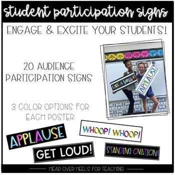 Student Participation Signs: 20 Signs to Liven Up Your Classroom!