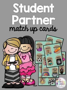 Student Partner Match Up Cards: A Fun Matching Activity to Create Student Teams
