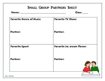 Student Partner Sheet