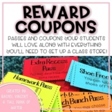 Reward Coupons with Class Store {Low Cost Student Passes} Printable & Digital