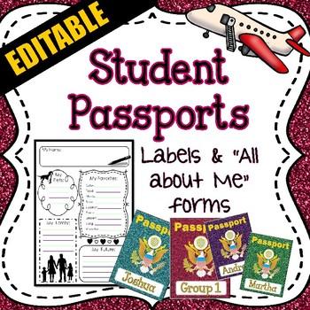 Student Passports - Travel Theme